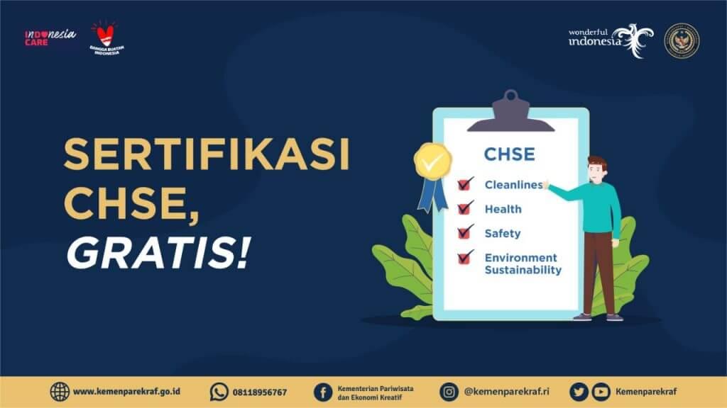 Program Sertifikasi CHSE Gratis Dari Kemenparekraf