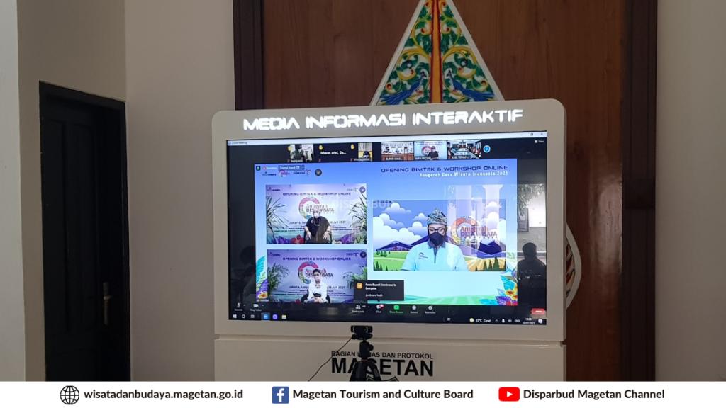 """pembukaan Bimbingan Teknis dan Workshop Desa Wisata """"Indonesia Bangkit"""" secara virtual untuk zona 3 (Jawa-Bali)"""